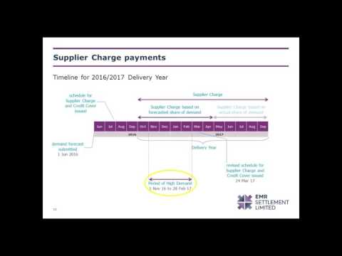 EMRS webinar: an overview of Supplier charges in the Capacity Market