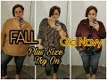 PLUS SIZE FALL TRY ON | Old Navy Dressing room