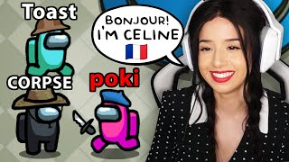 Among Us but i'm a FRENCH GIRL serial killer ROLEPLAY ft. Disguised Toast, CORPSE, Valkyrae & more!