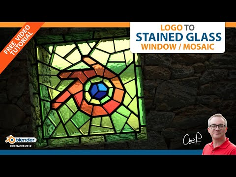 Logo to Stained Glass Window/Mosaic (Blender 3D Tutorial) thumbnail
