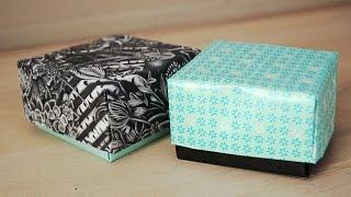 Origami cadeaudoosje vouwen