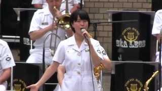 自衛隊の歌姫 三宅由佳莉 「Let it go」 を歌う 【2014.9.10】 Japan Maritime Self-Defense Force Musicians playing. thumbnail