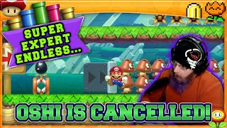 OSHI IS CANCELLED! | Super Mario Maker 2 Super Expert No Skip with Oshikorosu! [61]