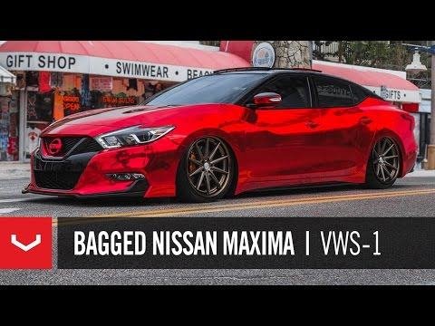 "Nissan Maxima | ""Red Chrome Bandit"" 