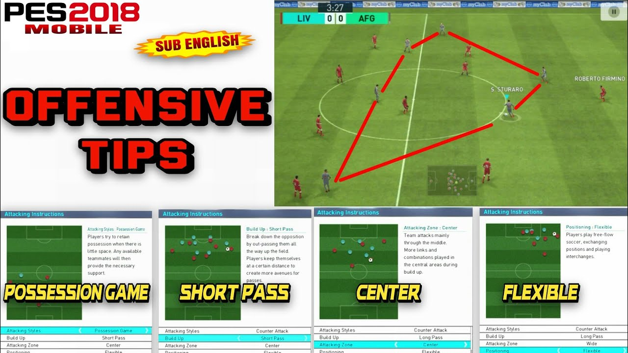 Pes 2018 Mobile | Offensive Tips