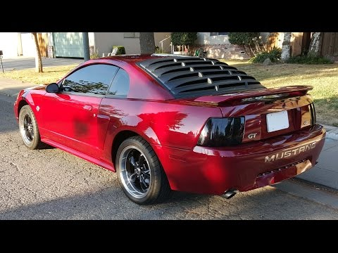 2004 mustang gt whipple supercharged funnydog tv for 2000 mustang rear window louvers