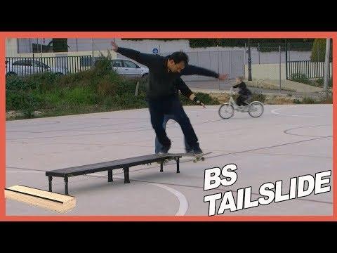 Tailslide Backside en Grind Box con el skate