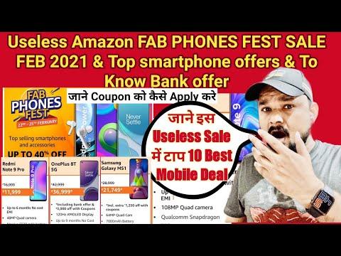 Amazon FAB PHONES FEST SALE 2021 Top 10 Best Smartphone Deals | Amazon  Sale | Amazon Mobile Offers