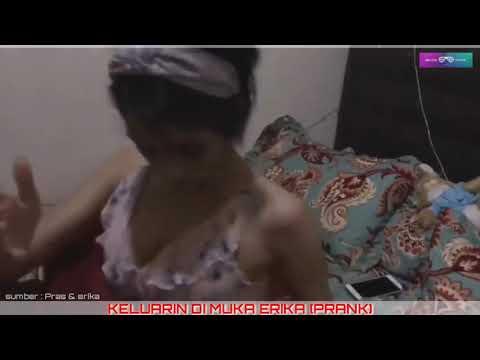 Prank : istri lagi tidur onani nembak di muka istri
