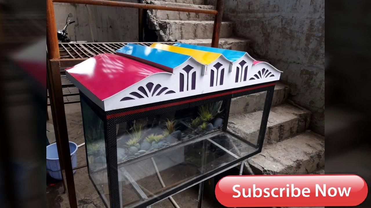 No 1 Aquarium Fish Tank Roof Top Cover Builder Mordant Top Covers Homemade Lid Foam Sheet Material Youtube Roof Design Fish Tank Aquarium Fish Tank