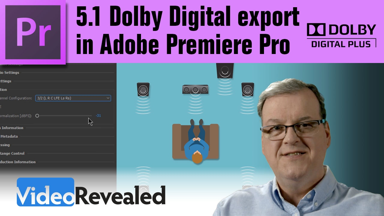 5 1 Dolby Digital export options in Adobe Premiere Pro