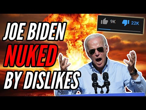 Biden Gets NUKED From Orbit With Dislikes, YouTube FAILS to Delete Dislikes Fast Enough