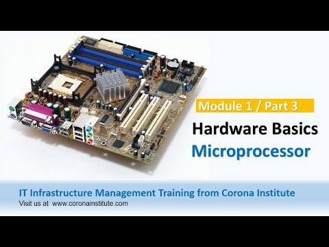 IT Infrastructure Training Session from Corona Institute - Hardware : Microprocessor