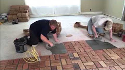 split brick flooring