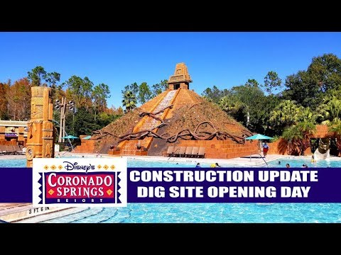 Disney's Coronado Springs Resort Construction Update December 2018 - Dig Site Pool Opening Day
