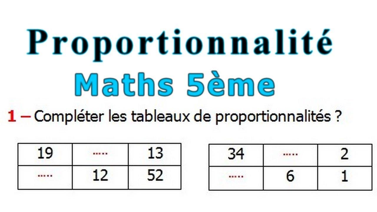 Maths 5eme La Proportionnalite Exercice 3 Youtube