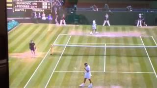 Federer serves ace to Mirka.