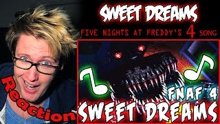 Скачать Sweet Dreams Five Nights At Freddy S 4 Song REACTION DAMN
