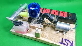 DIY 220v Dynamo Generator Using Nitro 2-stroke Engine