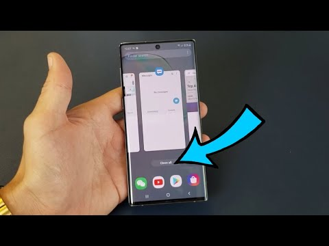 Galaxy Note 10 / 10+: How To Close Background Running Apps (Close All At Once)