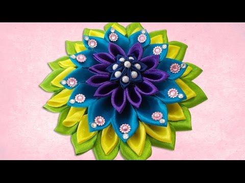 Diy For Girls I Beautiful Kanzashi Satin Ribbon Flower Hair
