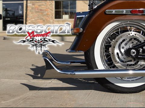 Bassani True Dual Fishtail Exhaust On 2019 Softail Deluxe - Sound Clip
