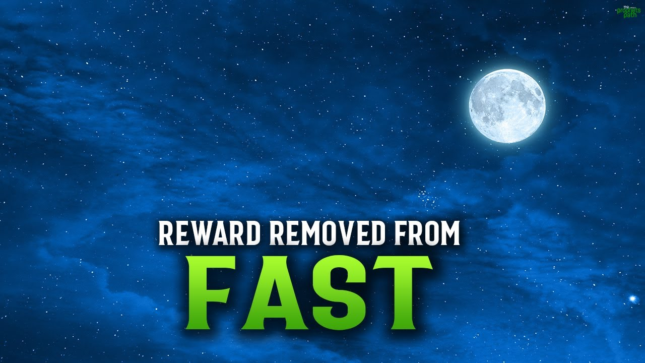 THIS WILL REMOVE THE REWARDS FROM YOUR FASTING