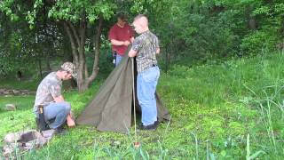how to set up a pup tent