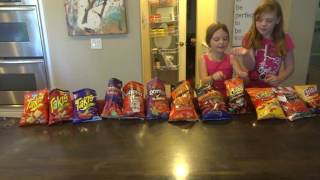 Hot and Spicy Chips Taste Test with Caitlin and Sydney