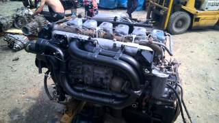 Запуск двигателя с замерами давления масла D6AC с грузовика(Автобус/Легковой/Грузовик/ Hyundai: Grace - D4BF D4BA D4BX.С электронным ТНВД, с механическим ТНВД. Starex - D4BH D4BB D4BF D4CD 145..., 2015-06-10T05:26:09.000Z)