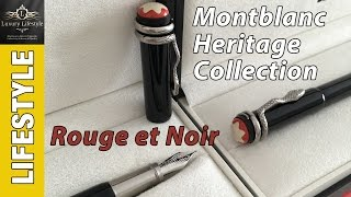 Montblanc Heritage Collection Rouge et Noir Fountain Pen & Rollerball Review