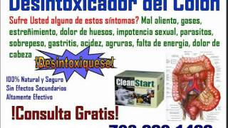 Desintoxicador del Colon Total y Completo Natural Efectivo Vitaminas Fibra Energia