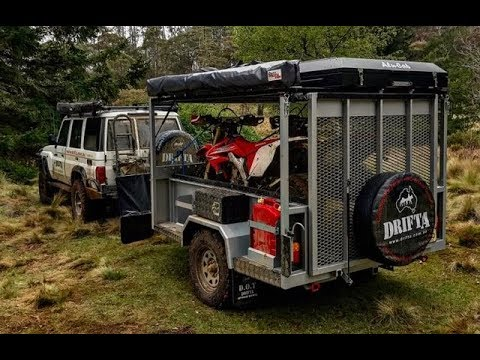Motorbike Trailer Camping Part 1 Youtube