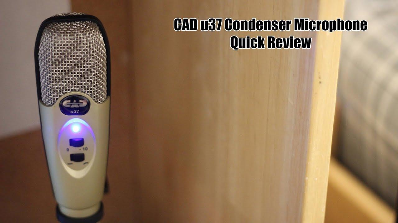 cad u37 usb microphone quick review youtube. Black Bedroom Furniture Sets. Home Design Ideas