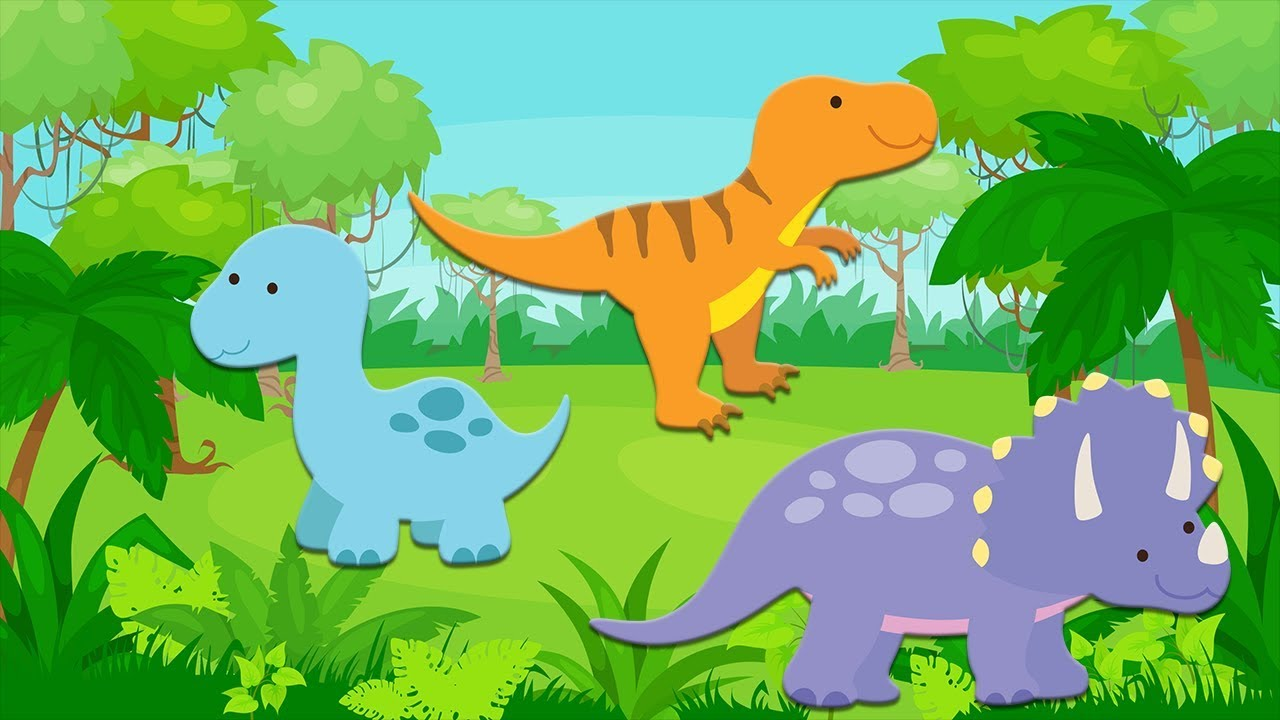 Counting Dinosaurs Counting Game For Toddlers Youtube