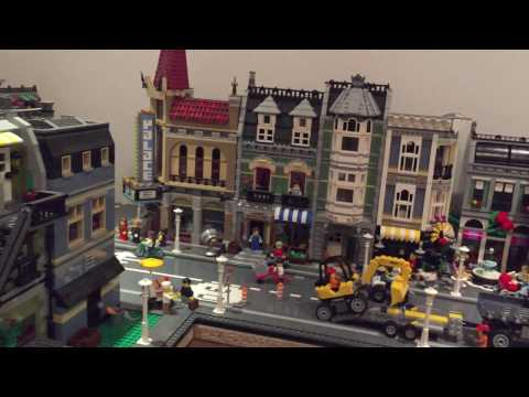 Lego town-train layout in WIP state