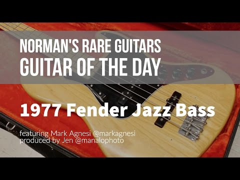 Norman's Rare Guitars - Guitar of the Day: 1977 Fender Jazz Bass