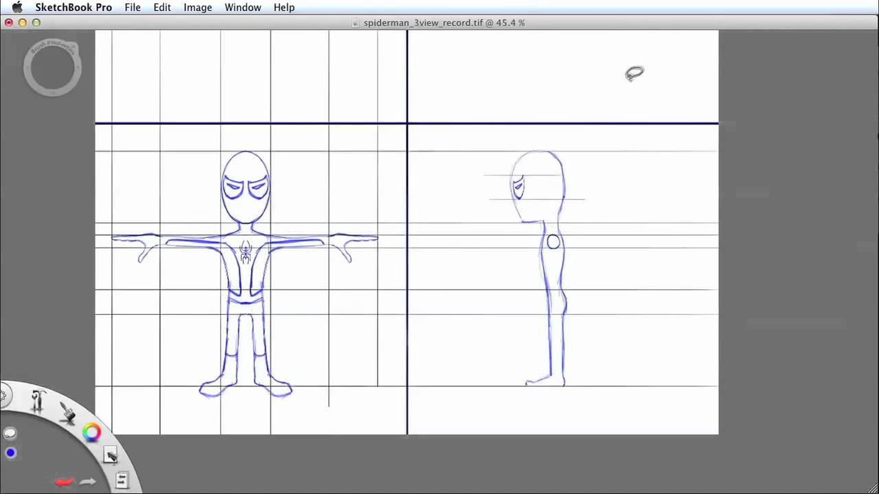 How to draw character model sheets in sketchbook pro youtube malvernweather Image collections