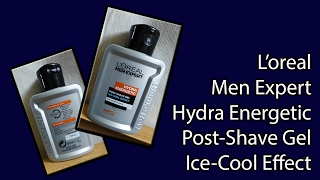 L'oreal Men Expert Hydra Energetic Post-Shave Gel unboxing
