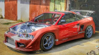 DIY TARGA T-top Mitsubishi Eclipse 2G GSX (side air intake )   Part 4/12 Cutting of the rear fenders