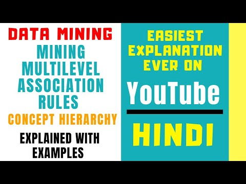 Mining Multilevel Association Rules Ll DMW Ll Concept Hierarchy Ll Explained With Examples In Hindi