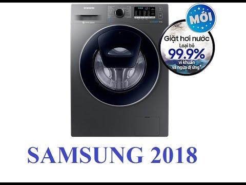 Máy Giặt Samsung WW80J54E0BX/SV 8kg Inverter 2018 - Giặt Hơi Nước