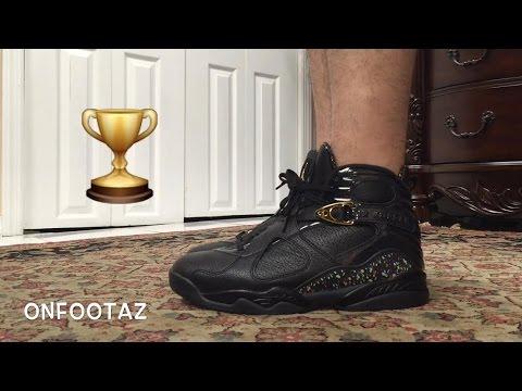 jordan 8 confetti on feet