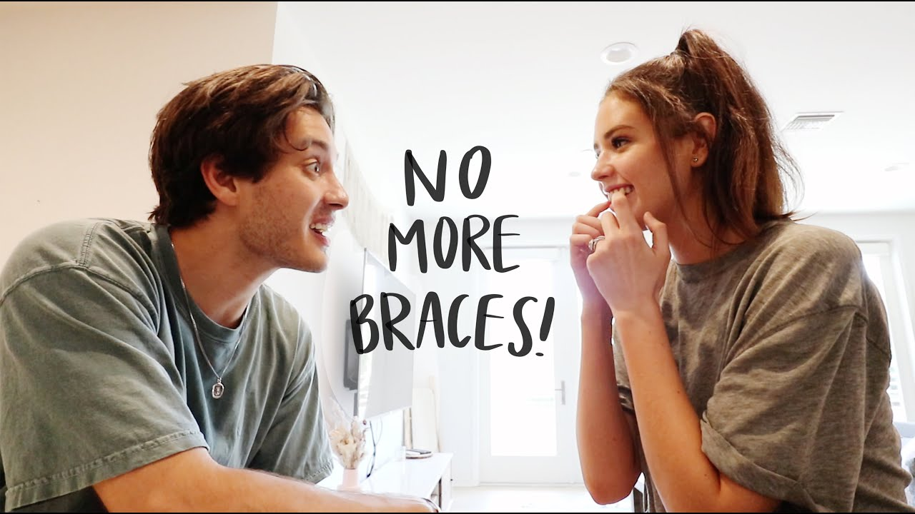 i got my braces off!! & my husband's reaction!