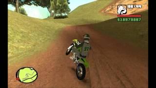 GTA San Andreas || Kawasaki KX + Skin Motocross || Mod*