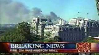 9/11/01 - CNN Live Coverage Pentagon Attack