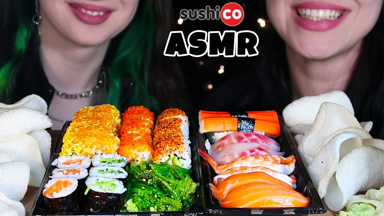 KIZIM MİSLİNA ile SUSHI ASMR | Sashimi, Maki, Sushi | Asmr Türkçe Mukbang