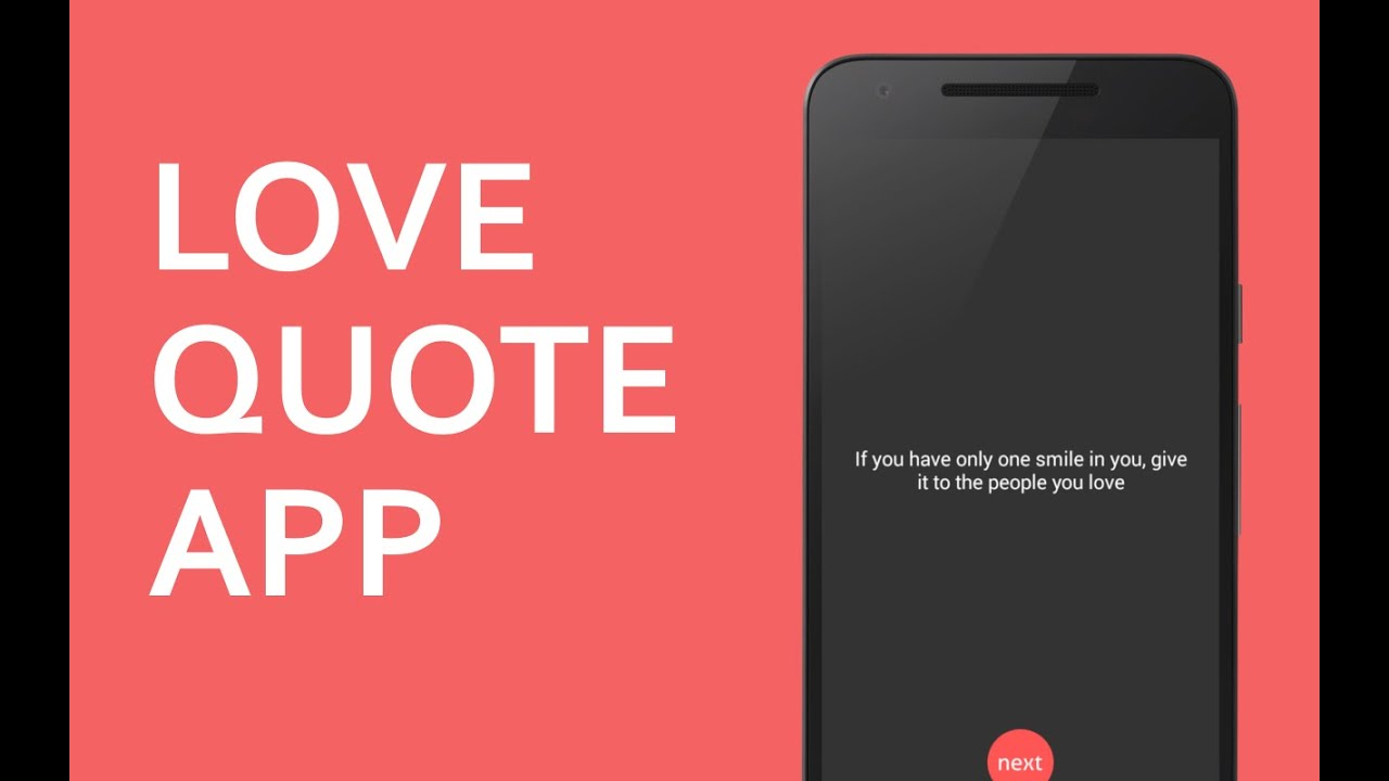 How To Make A Quote Android Tutorial  How To Make Simple Love Quote App In Android