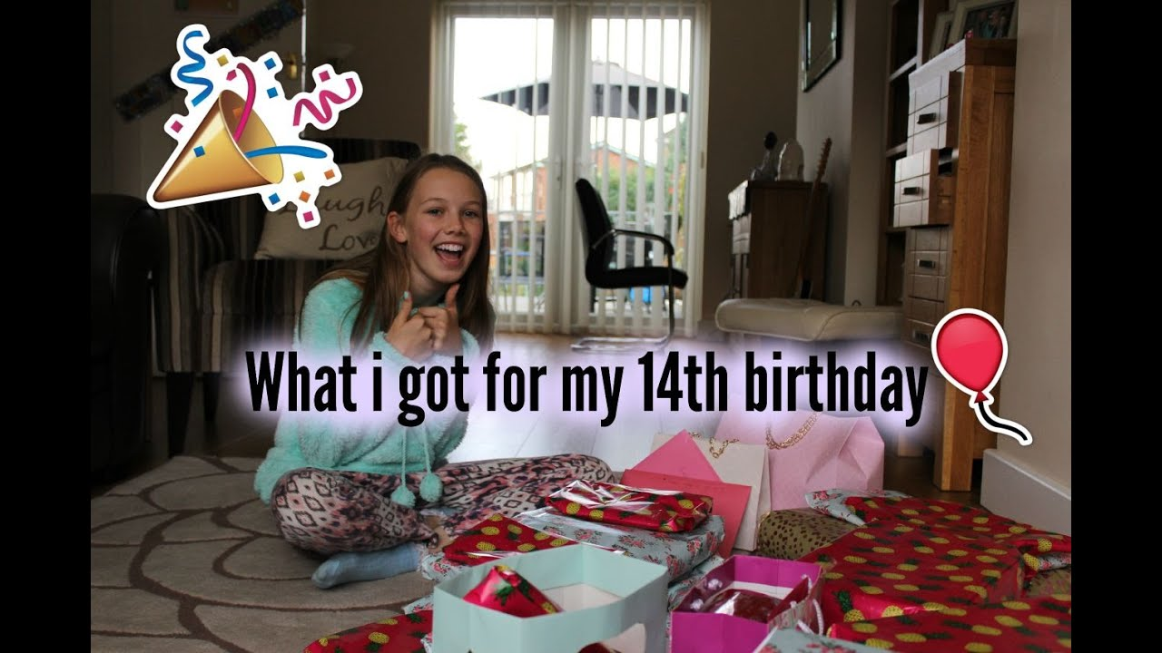 What i got for my 14th Birthday - YouTube