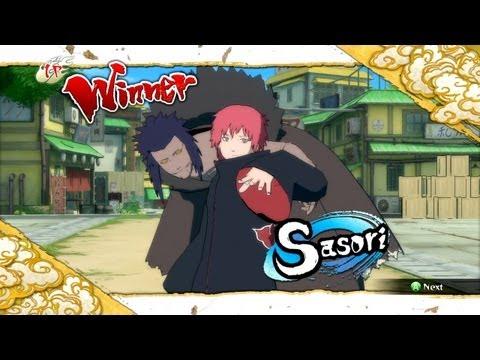 Naruto Ultimate Ninja Storm 3 Sasori Complete Moveset with Command List
